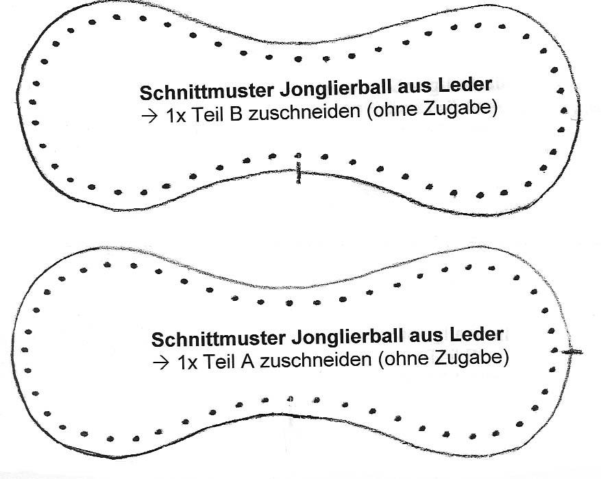 Jonglierball (Leder)